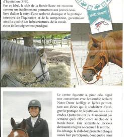 sport étude équitation au centre équestre de la borde basse a castres
