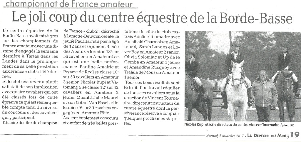 article championnat de france amateur