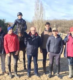 De gauche à droite ,Pascal FORABOSCO , Anais MAFFRE, Dorian SOULET, Michel ASSERAY, Nicola Rupi ,Paul BARRET et Vincent TOURNADRE