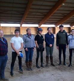 Nos cavaliers présent au stage de dressage : Nicola RUPI, Paul BARRET, Anais MAFFRE et Dorian SOULET